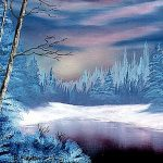 Art Winter Twilight Artist Deanne Flouton