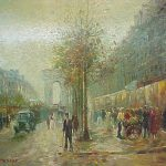 Auctions Neapolitan Image French Impressionist Painting Pencke