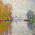 Autumn The Seine Argenteuil Impression Sunrise