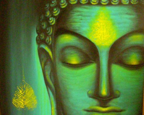Beautiful Buddha Paintings Canvas For Sale Mumbai