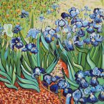 Blue Flowers Vincent Van Gogh Repro Stretched Oil Painting Art