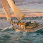Boat Oil Painting