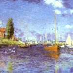 Boats Argenteuil Oil Canvas Harvard University Fogg Art