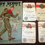 Boy Scout Norman Rockwell Cover Art Scouting Cards Altered Mixed Media