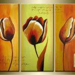 Budding Canvas Bright Flower Oil Paintings