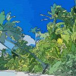 Canvas Art Paintings Coconut Tree Beaches