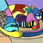 Cat Named Picasso Painting Fine Art Print