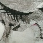 Cave Horse Ghost Print Monoprint