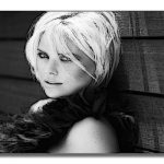 Charlize Theron Black And White Paint Effect Famous Celebrity Pictures