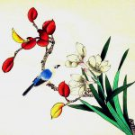Chinese Bird And Flowers Silk Painting