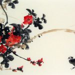 Chinese Flower Paintings And Chicken