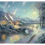 Christmas Moonlight Painting Limited Edition Canvas