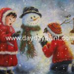Christmas Oil Paintings Hand Painted Canvas Outstanding