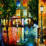City Magic Original Oil Canvas Painting Leonidafremov