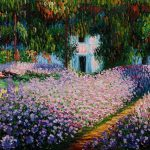 Claude Monet Garden Path Giverny Oil Painting