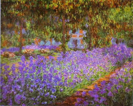 Claude Monet Irises Garden Painting