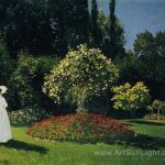 Claude Monet Oil Painting Jeanne Marguerite Lecadre The Garden