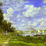 Claude Monet Painting Harbour Argenteuil Oil Canvas Musee