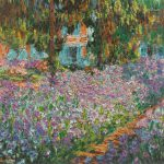 Claude Monet Paintings Irises Garden Jpg