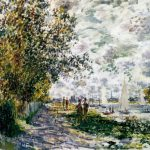 Claude Monet The Red Cape Madame Painting