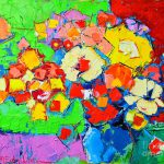 Colorful Flowers Painting Abstract Fine Art Print