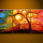 Colors Group Abstract Oil Painting Bordermaker