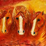 Contemporary Abstract Western Horse Painting Colorado Artist