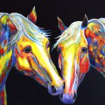 Contemporary Horse Painting Abstract Equine Art Colorado Artist