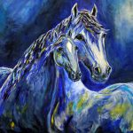 Contemporary Impressionism Horse Painting Equine Art Colorado