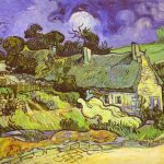 Cottages Thatched Roofs Vincent Van Gogh Painting
