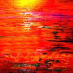 Crimson And Gold Sunset Canvas