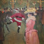 Dancing Jig Santa Gets Into The Swing Henri Toulouse Lautrec