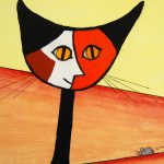 Detail From Norma Salt Picasso Cat Gato Exchibit The