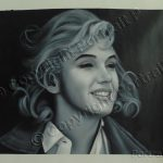 Details About Marilyn Monroe Oil Painting Hand Painted Art Canvas Not