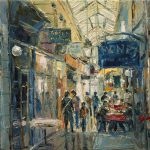 Details About Original Oil Painting Dusan Canvas Art City Arcade