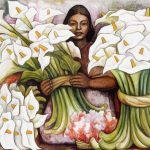 Diego Rivera Vendedora Alcatraces Salesman Gannets Painting