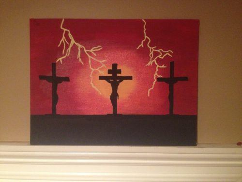 Diy Cross Crucifix Painting Canvas