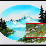 Dknw Rare Bob Ross Painting Being Sold Ebay