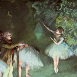 Edgar Degas Paintings Ballet Rehearsal Painting