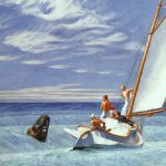 Edward Hopper Ground Swell Watercolor Artwork Reproduction