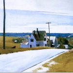 Edward Hopper High Road Original Size Watercolor And