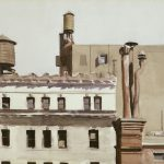 Edward Hopper Untitled Rooftops Watercolor And Graphite
