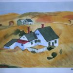 Edward Hopper Watercolor Painting Study Angelg