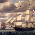 Enlarge Painting Name Clipper Ship Southern Cross Leaving