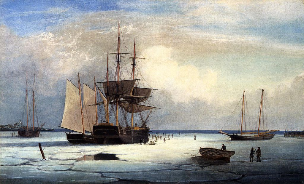 Enlarge Painting Name Ships Ice Off Ten Pound Island