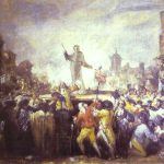 Esquilache The Riots Famous Art Work Drawing Goya
