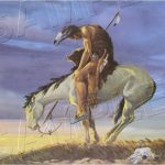 Famous American Art End The Trail Vintage Western