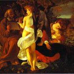 Famous Art Work Drawing Caravaggio The Rest Flight Into