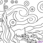 Famous Artwork Coloring Pages Page