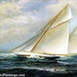 Famous Boat Paintings Americas Cup Racing